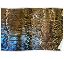 Bubbles & Golden ZigZags Poster