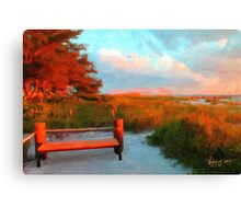 Red Sea Pine Reflection  Canvas Print