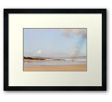 Rainbow Over Gwithian, Cornwall Framed Print