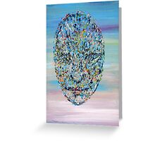 FLOATING MASK Greeting Card