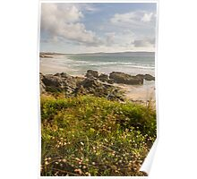 Cliff over Gwythian Beach Poster