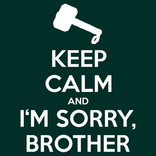 Quot Keep Calm And I M Sorry Brother Quot T Shirts Amp Hoodies By