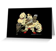 Hitmonlee VS Zangief Greeting Card