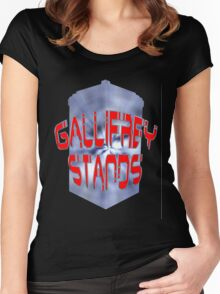 Gallifrey Stands 2 Women's Fitted Scoop T-Shirt