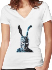 Why Are You Wearing That Stupid Man Suit Women's Fitted V-Neck T-Shirt