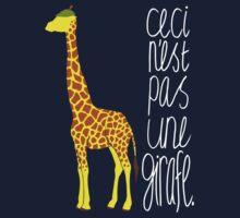 Art Giraffe- Ceci n'est pas une girafe by Sundayink