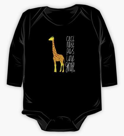 Art Giraffe- Ceci n'est pas une girafe One Piece - Long Sleeve