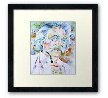 MARK TWAIN - watercolor portrait Framed Print