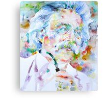MARK TWAIN - watercolor portrait Canvas Print