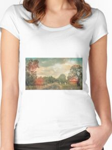 Lonely Vintage Railway Photo Women's Fitted Scoop T-Shirt