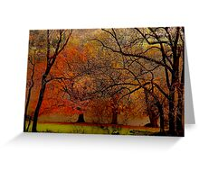 The Autumn Shores of Grasmere and Loughrigg Tarn .. Greeting Card