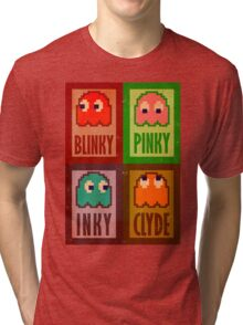Blinky, Inky, Pinky and Clyde Tri-blend T-Shirt