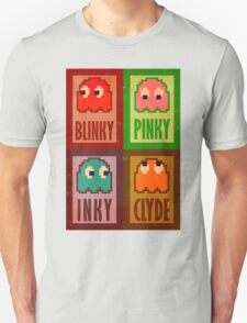 Blinky, Inky, Pinky and Clyde Unisex T-Shirt