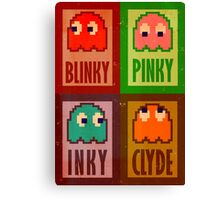 Blinky, Inky, Pinky and Clyde Canvas Print