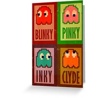 Blinky, Inky, Pinky and Clyde Greeting Card