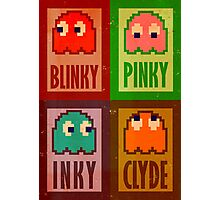 Blinky, Inky, Pinky and Clyde Photographic Print