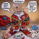 Mad Santa by WildestArt