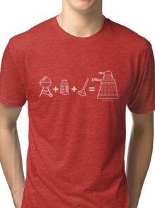 Grill + Grater + Plunger = Dalek Tri-blend T-Shirt