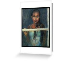 Black Girl at a Window Greeting Card