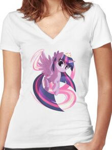 Twilight Sparkle Women's Fitted V-Neck T-Shirt