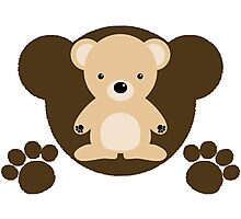 The stuffed toy of the bear Photographic Print