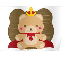 The stuffed toy of the bear Poster