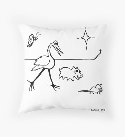 Stroll Past Calvary Throw Pillow