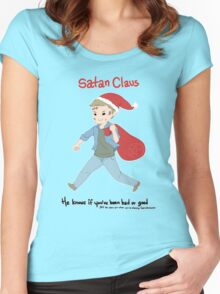 Satan Claus Women's Fitted Scoop T-Shirt