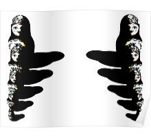 Mirrored Russian Dolls Poster