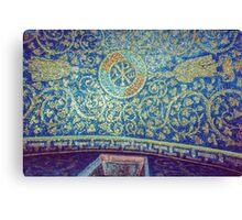 Chi Rho alpha omega on roof Tomb of Gallia Placida Ravenna Italy 19840414 0058 Canvas Print
