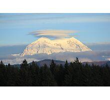 Mt. Rainier with Lenticular Clouds Photographic Print