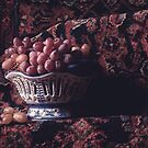 Grapes in Blue Bowl by Rachel Slepekis