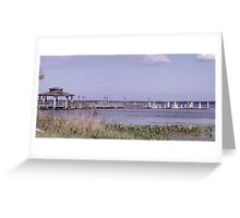 City Pier Artistic Photograph by Shannon Sears Greeting Card