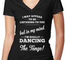 Dancing The Tango! Women's Fitted V-Neck T-Shirt