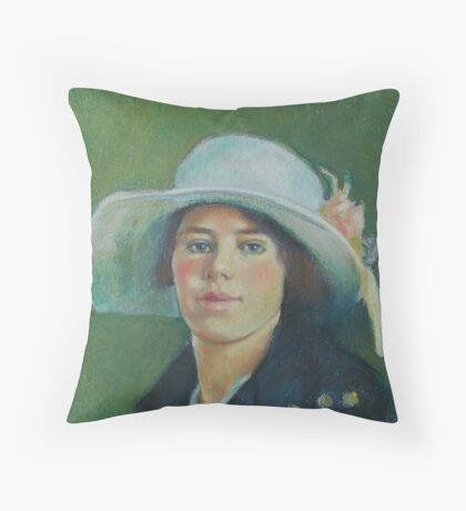 Grandmother in pastels Throw Pillow