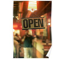 Open Late Poster