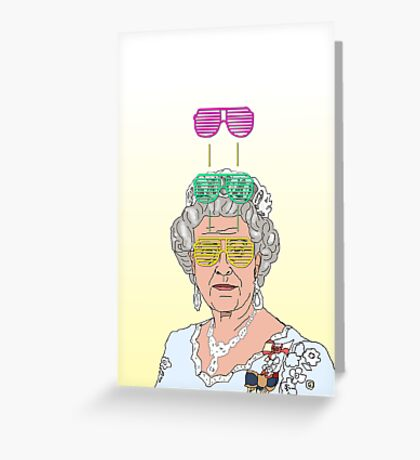 Cool Down - Queen Elizabeth II Greeting Card