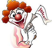 Clown with a gun by devaleta