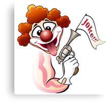 Clown with a gun Canvas Print