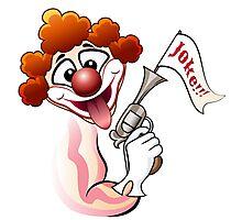 Clown with a gun Photographic Print