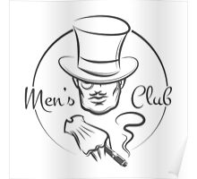 Mens Club Logo Poster