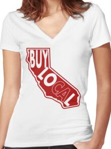 Buy Local Ca Women's Fitted V-Neck T-Shirt