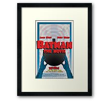 Batman: The Movie Poster Framed Print