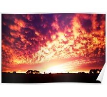 cloudy sunrise Poster