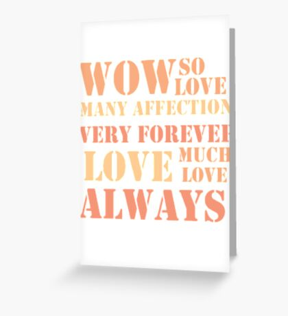 Much Love Greeting Card