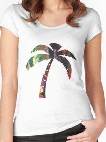 Summer Palm Women's Fitted Scoop T-Shirt