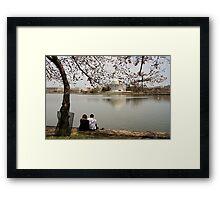 Reflection. Tidal Basin. Framed Print