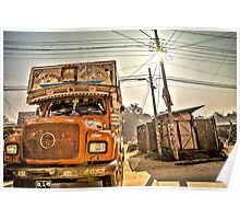 The orange truck Poster