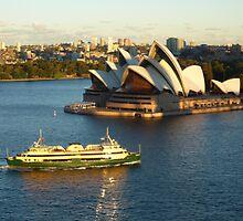 Sydney Opera House from the Harbour Bridge by marshstudio
