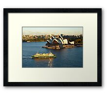 Sydney Opera House from the Harbour Bridge Framed Print